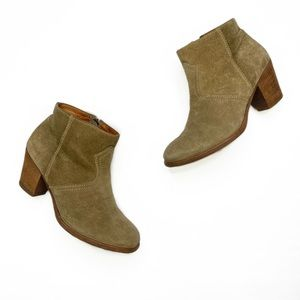 Madewell Zipcode Ankle Boots in Suede